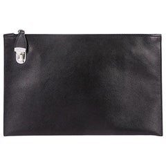 Prada Hand Strap Clutch Saffiano Leather Medium