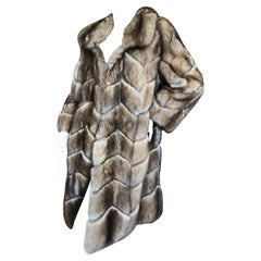 J. Mendel Golden Sable Chevron Pattern Fur Coat from Neiman Marcus