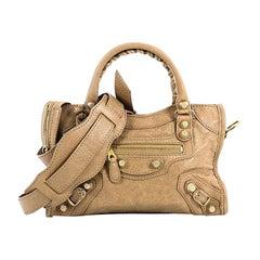 Balenciaga City Giant Studs Handbag Leather Mini