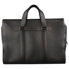 Cartier Vintage Black Textured Leather Top Handles Pasha Briefcase