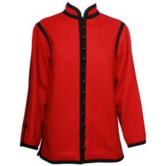 Saint Laurent Mandarin Collar Jacket