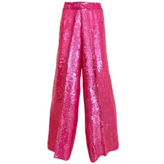 Anna Molinari Pink Sequined Pants, 1980s