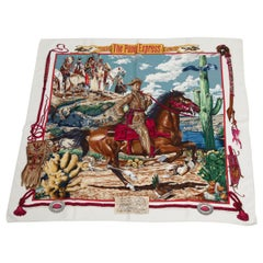 "Hermes ""The Pony Express"" Silk Twill Carre Scarf"