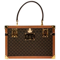 Celine Brown Monogram Canvas Rigid Vanity Case