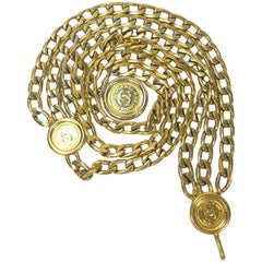 Chanel gilt Metal Vintage Chain Belt
