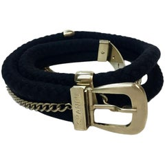 Chanel Black Rope Matte Gilt Metal Belt
