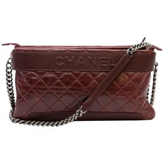 CHANEL Burgundy Quilted Aged leather Bag