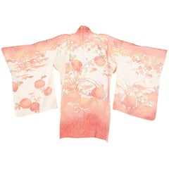 Hand Painted and Stenciled Japanese Silk Kimono