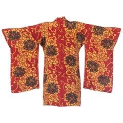 Light Weight Silk Jewel Tone Japanese Kimono