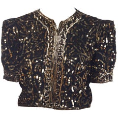 Gold Sequined Bolero Jacket, circa 1940
