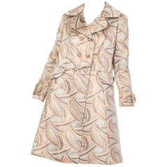 1960s Mod Metallic Geometric Coat & Dress