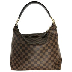 Louis Vuitton Damier Ebene Portobello PM Hobo Shoulder Handbag