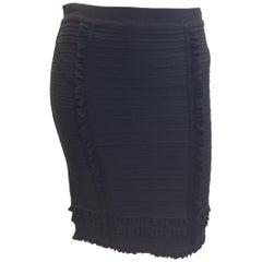 Herve Leger Black Ruffle Skirt NWT