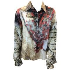 Roberto Cavalli Silk Print Blouse