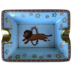 Hermes Circus Lion Theme Small Ashtray
