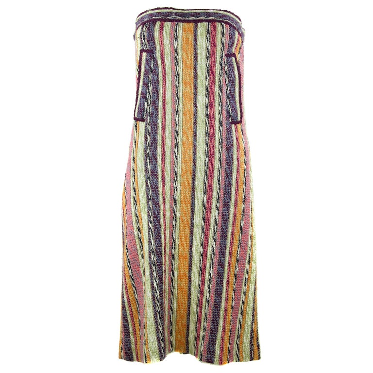 e60ab6a898d4 Missoni Striped Strapless Dress For Sale at 1stdibs