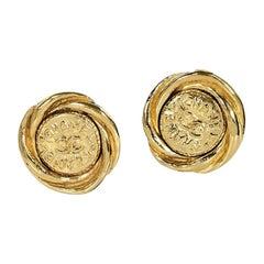 Goldtone Vintage Chanel Clip-On Earrings