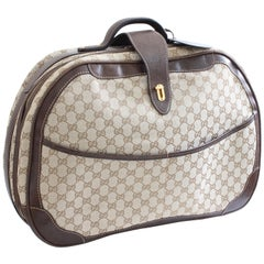 Gucci GG Logo Canvas Small Carry On Bag Suitcase Overnight Luggage, 1970s