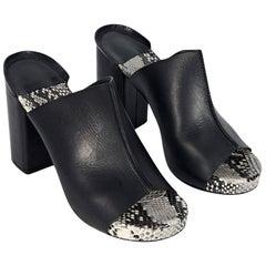 Black Robert Clergerie Leather Heeled Sandals