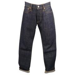 RRL by Ralph Lauren Indigo Navy Contrast Stitch Selvage Denim Jeans