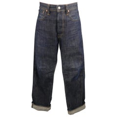 RRL by Ralph Lauren Worn Indigo Contrast Stitch Selvage Denim Jeans
