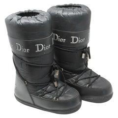 Dior Black Nylon Apres Ski Boots