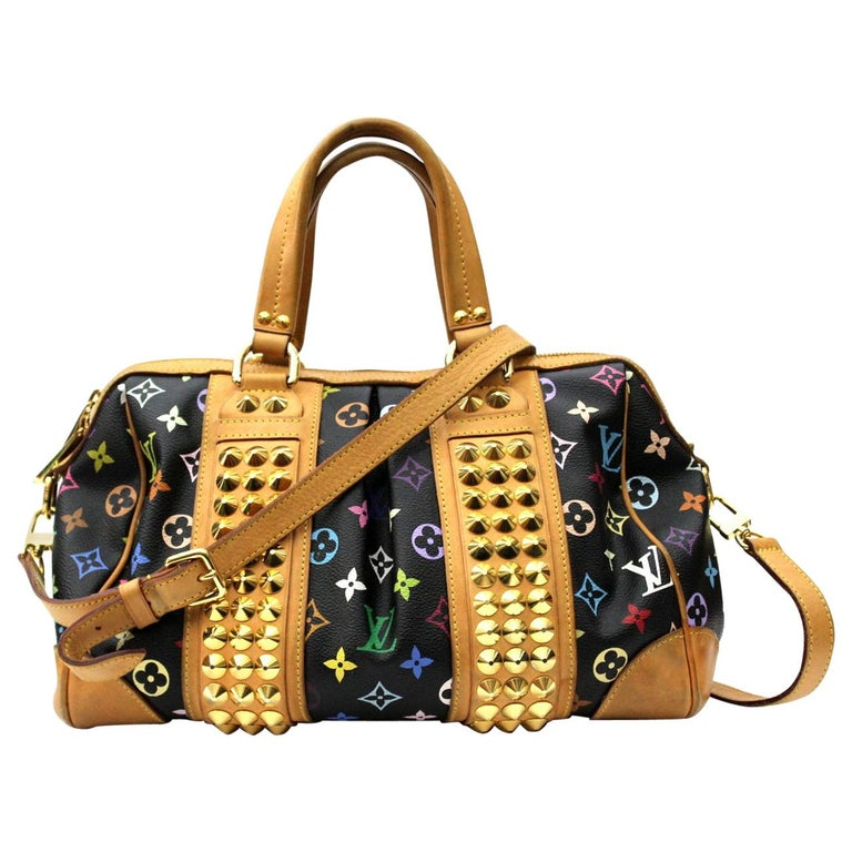 2009s Louis Vuitton Black Monogram Multicolore Courtney GM Bag