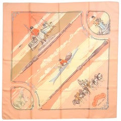 Hermes Vintage Silk Carre Scarf Gronland by Philippe Ledoux