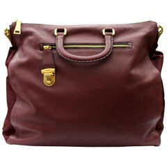 Prada Bordeaux Leather Shoulder Bag