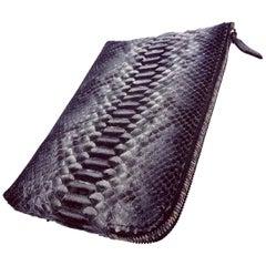 Ana Python and Stingray Clutch Bag for Unisex