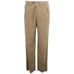 Giorgio Armani Tan Corduroy Dress Pants