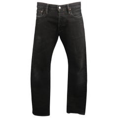 RRL by Ralph Lauren Black Washed Selvedge Denim Jeans