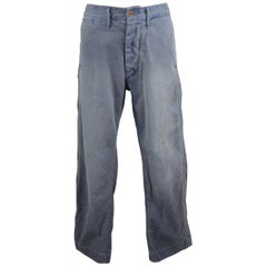 RRL by Ralph Lauren Blue Vintage Wash Cotton Casual Chino Pants