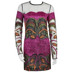 Tom Ford Embroidered Mesh Mini Dress