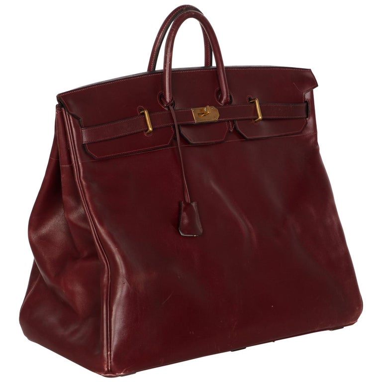 9fba1863655 Hermes Bonwit Teller Vintage Burgundy Travel Birkin Bag, 1970s For Sale