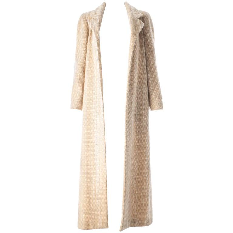 Chanel cream tweed maxi coat, A / W 2001