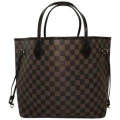 Louis Vuitton Damier Ebene Neverfull MM Tote Handbag