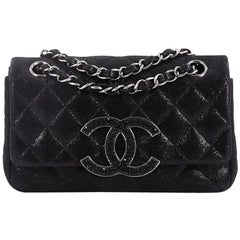 Chanel Crystal CC Chain Flap Bag Quilted Iridescent Goatskin Mini