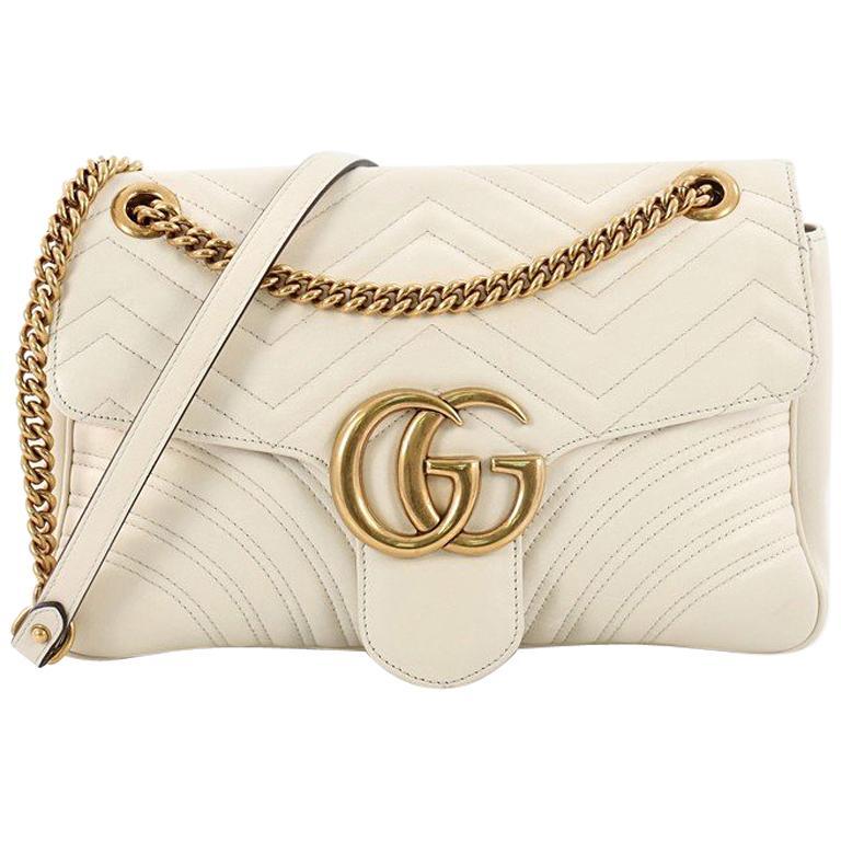 d6ce8cbd4 Gucci GG Marmont Flap Bag Matelasse Leather Medium at 1stdibs