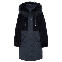 Chloé Snow Capsule Shearling Quilted Shell Coat