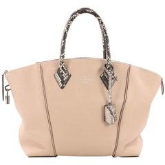 Louis Vuitton Soft Lockit Handbag Leather with Python PM