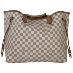 Louis Vuitton Damier Azur Neverfull GM Tote Handbag
