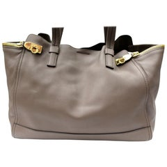 Ferragamo Brown Leather Shoulder Bag