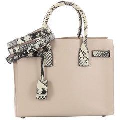 Saint Laurent Sac de Jour NM Handbag Leather and Python Embossed Baby