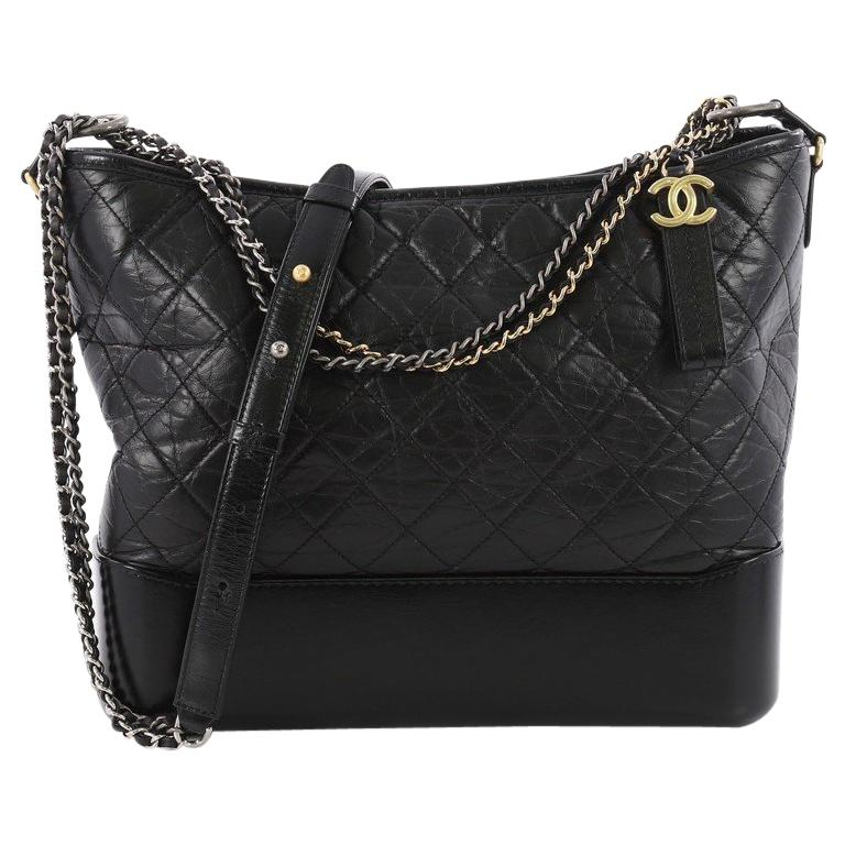 d06cba13e2b8 Chanel Gabrielle Hobo Quilted Aged Calfskin Large For Sale. This authentic  Chanel Gabrielle Hobo Quilted Aged Calfskin Large displays a luxurious  design ...