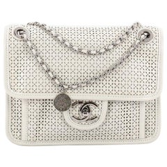 Chanel Up In The Air Flap Bag Perforated Leather Small