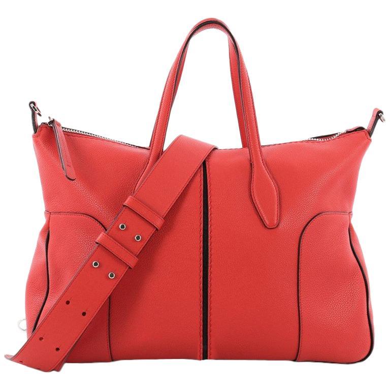 Tod's Piccolo Tote Leather Medium For Sale