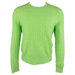 Ralph Lauren Light Green Knit Cashmere Sweater