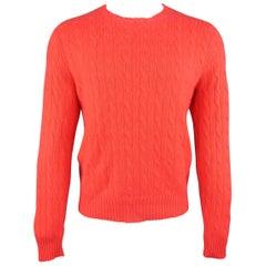 Ralph Lauren Red Knit Cashmere Sweater