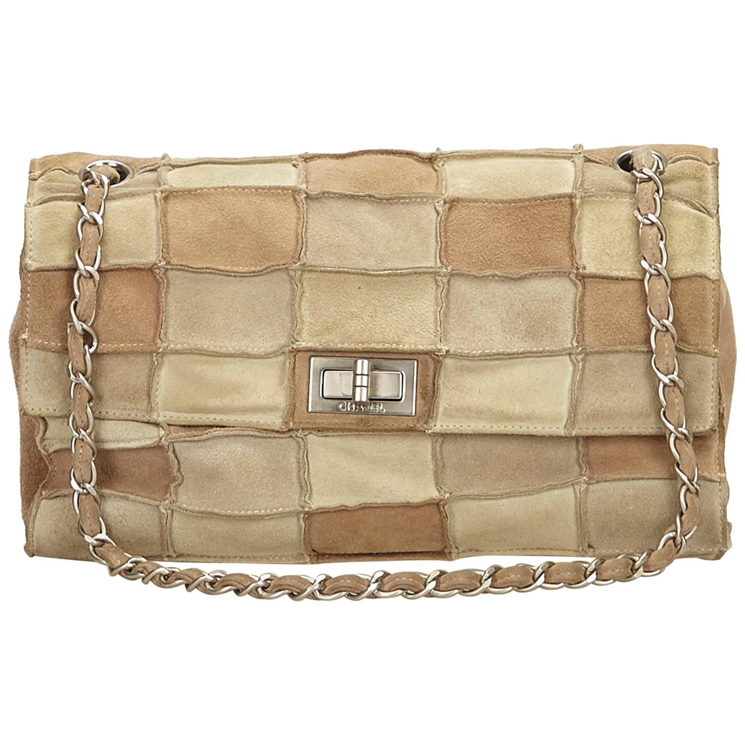 273be6d57590 Chanel Beige x Multi Reissue Patchwork Flap Bag at 1stdibs